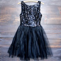 sugar plum dazzling black sequin darling party dress