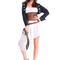 [25.19] In Stock Cool Caribbean Pirate Halloween Costume - Dressilyme.com