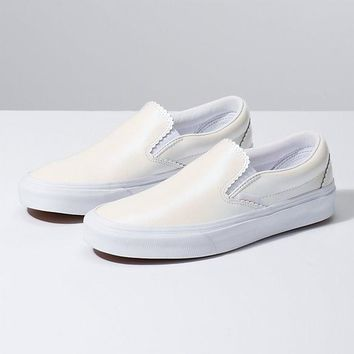 Vans Classic Slip On(Pearl Suede)Wht/Wht