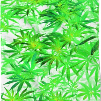 Trippy 420 accessory, marihujana leafs in light colors 24x24
