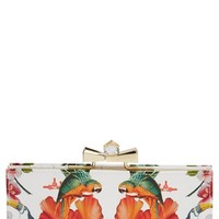 Women's Ted Baker London 'Tropical Toucan' Matinee Wallet - White