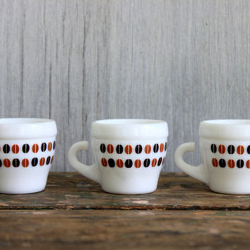 3 vintage italian espresso cups // CERVE // milk glass // demitasse coffee cups