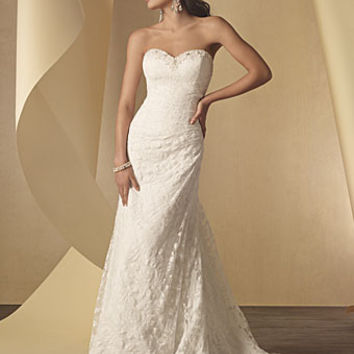 Alfred Angelo 2208 Strapless Lace Fit & Flare Wedding Dress