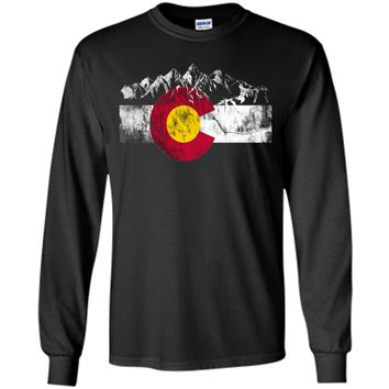 Colorado Flag Moutain Vintage T Shirt - Colorado Day Shirts t-shirt