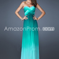 US $139.99 2014 Prom Dresses A Line Sweetheart Floor Length Cross Back Colorful