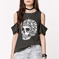 Gypsy Warrior Cold Shoulder T-Shirt - Womens Tee - Black