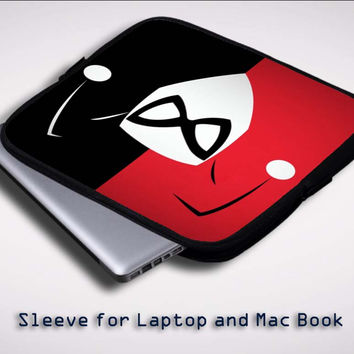 Black and white, picture, mask wallpapers X0551 Sleeve for Laptop, Macbook Pro, Macbook Air (Twin Sides)