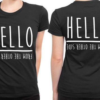 DCCKG72 Adele Hello From The Other Side 2 Sided Womens T Shirt