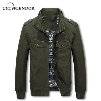 Trendy Men 2018 New Fashion Brand Cargo Jackets Spring Autumn Man Casual Bomber Jacket Male Long Sleeve Solid Pilot Jackets Men YN10221 AT_94_13
