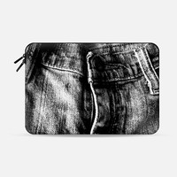 """Faded Jeans Macbook Air 13"""" sleeve by Bunhugger Design 