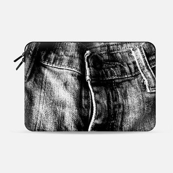"Faded Jeans Macbook Air 13"" sleeve by Bunhugger Design 
