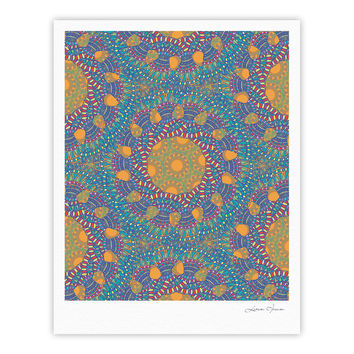 "Miranda Mol ""Prismatic Orange"" Orange Blue Abstract Fine Art Gallery Print"