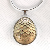Tan Dragon Egg Pendant, Jewelry, Dragon Necklace, Inspired by Game of Thrones, Dragon Egg Necklace, Dragon