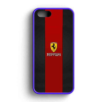 Ferrari Logo Red Black Design iPhone 5 Case iPhone 5s Case iPhone 5c Case