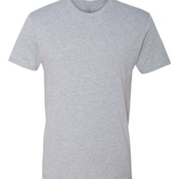 Next Level 3600 Premium Fitted Short Sleeve Crew with TearAway Label (Heather Grey / XS)