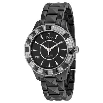Dior VIII Automatic Diamond Black Ceramic Ladies Watch CD1245E1C001