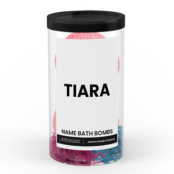 TIARA Name Bath Bomb Tube