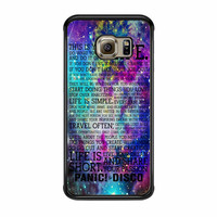 Panic At The Disco Band Life Quotes Samsung Galaxy S6 Edge Case