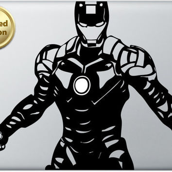 Iron Man 3 Macbook Decal Laptop Sticker Vinyl Decal LIMITED EDITION Superhero Avengers