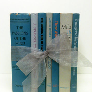 Beach Wedding,Books for Wedding,Teal and Grey,Table Setting,Nursery Decor,Baby Shower,Summer Wedding