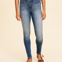 Girls High-Rise Super Skinny Jeans | Girls Bottoms | HollisterCo.com