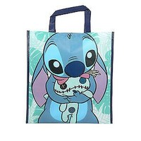 Licensed cool Disney Lilo & Stitch Hugging Scrump OHANA Shopper Tote Reusable Grocery ECO Bag