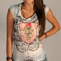 Angel t-shirt Venus women top adorable new design summer fashion tie dye top one side printed