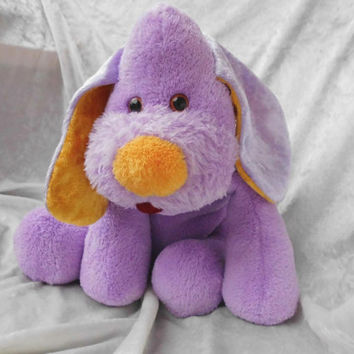 Crocus Lavender Floppy Puppy Easter Springtime cuddly handmade OOAK basset dachshund beagle doxie dog soft toy stuffed animal Home Decor