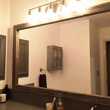Mirror - Reclaimed Wood Option - Extra Large Mirrors - 69 x 42 - Custom Sizes Available