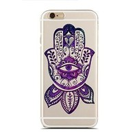 Clear Snap-On case for iPhone 5C - Eye Mandala Hand (C) Andre Gift Shop