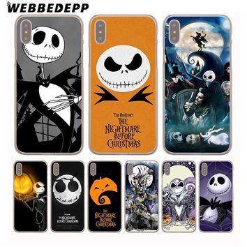 WEBBEDEPP Nightmare Before Christmas Sally Jack Hard Phone Case for iPhone X XS Max XR 7 8 6S Plus 5 5S SE 5C 4 4S Cover