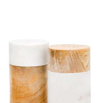 Marble Mix Salt & Pepper Shakers