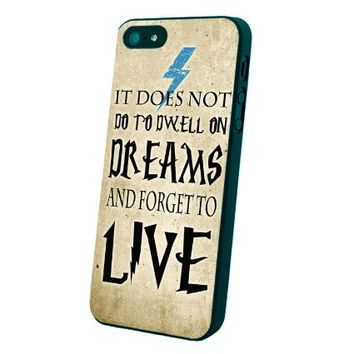 Harry Potter Dreams Quote Custom Case for Iphone 5/5s/6/6 Plus (Black iPhone 5/5s)