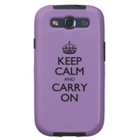 Bellflower Keep Calm And Carry On Samsung Galaxy S3 Case