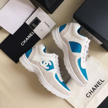 Double C Blue/white Sneaker