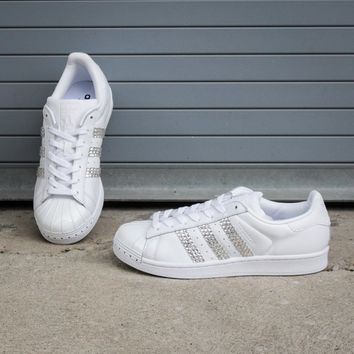 NEW Women's Adidas Superstar Swarovski Crystal Sneakers