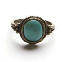 Golden Turquoise Stone Ring