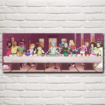 Rick and Morty Rick Sanchez Cartoon Animation Art Silk Poster Prints Home Decor Painting 12x31 16x42 20x52 Inches Free Shipping