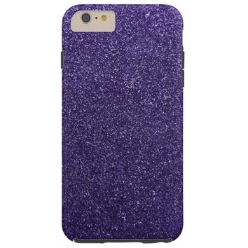 Cool Awesome Purple Glitter Tough iPhone 6 Plus Case