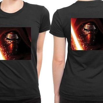 DCCKG72 Star Wars The Force Awakens Kylo Ren Photo 2 Sided Womens T Shirt