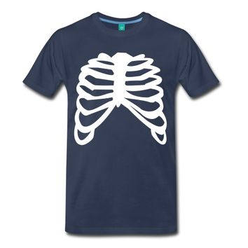 white ribcage ribs design T-Shirt | Spreadshirt