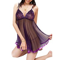Fashion Embroidery Sexy Lingerie Set Ladis Perspective Lure Nightgowns  Women Sexy Nightwear Underwear G-String XL-6XL Plus Size