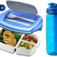 Stay-Fit Lunch 2 Go Container and 24oz Hydration Bottle Combo