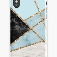 'Cool Mosaic Marble Pattern' iPhone Case by Quaintrelle