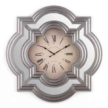 Silver Calcutta Wall Clock