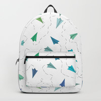 Paper Planes Backpack by Estef Azevedo