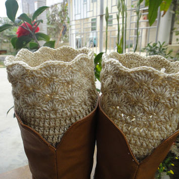 Crochet Womens Boot Socks, Womens Leg Warmers, Boot Cuff, Boot Topper, Wholesale available