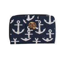 Simply Southern Navy & White Anchor Wallet