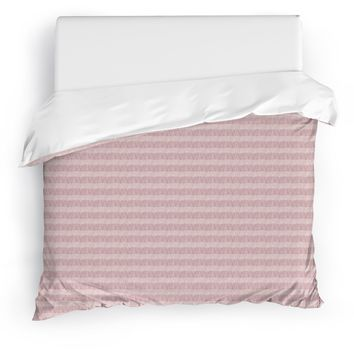 FLAPPER PINK Duvet Cover By Tiffany Wong