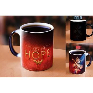 Morphing Mugs MMUG577 11 oz Wonder Woman Movie Lady of Hope Heat Reveal Ceramic Coffee Mug